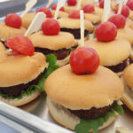 finger food catering burgers